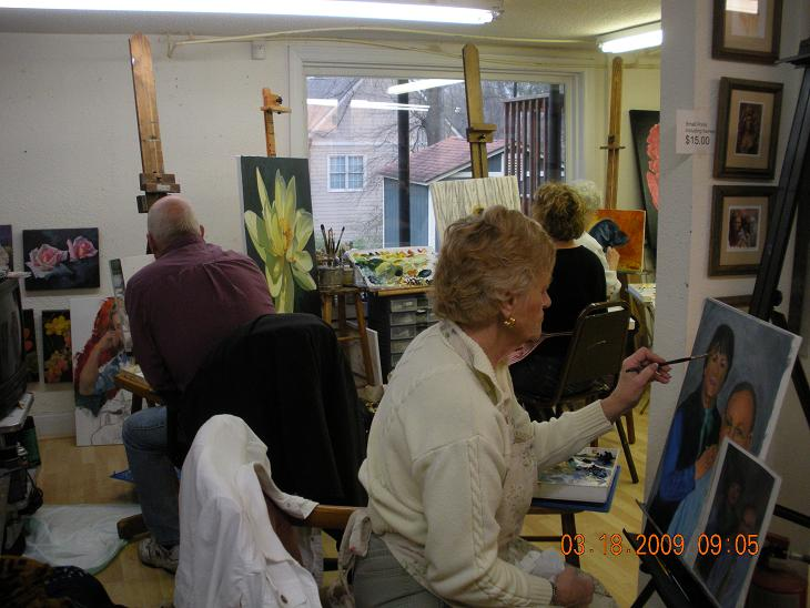 More painters in the Studio
